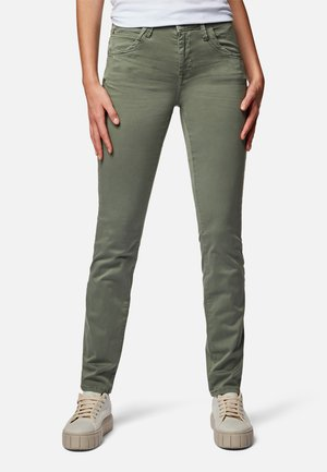 SOPHIE - Jeans Skinny Fit - daphne green colored sateen