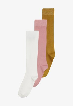 KNEEHIGH 3 PACK UNISEX - Knee high socks - creme/altrosa/honig