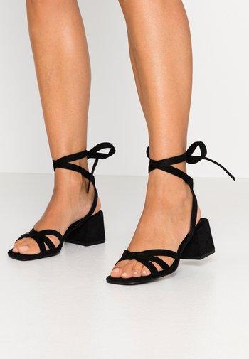 ANKLE STRAP HEELS - Sandals - black