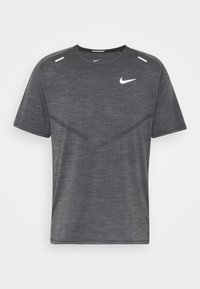 TECHKNIT ULTRA  - T-shirt med print - black/white/silver
