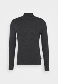Marc O'Polo - LONG SLEEVE TURTLE NECK STRIPED - Long sleeved top - black - 4