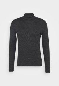 LONG SLEEVE TURTLE NECK STRIPED - Pitkähihainen paita - black