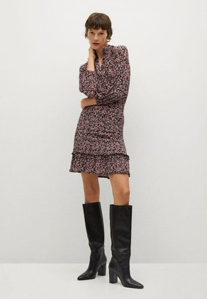RITA - Shirt dress - erdbeerrot
