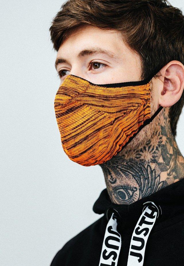 Stoffen mondkapje - orange/black