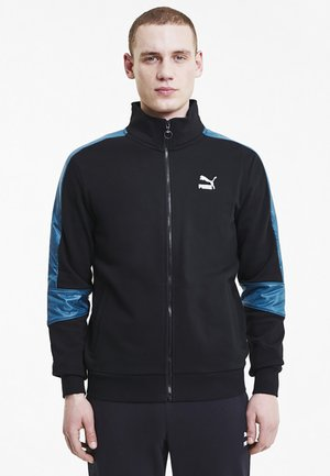 Training jacket - black-digi-blue