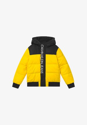 COLOUR BLOCK PUFFER JACKET - Chaqueta de invierno - yellow
