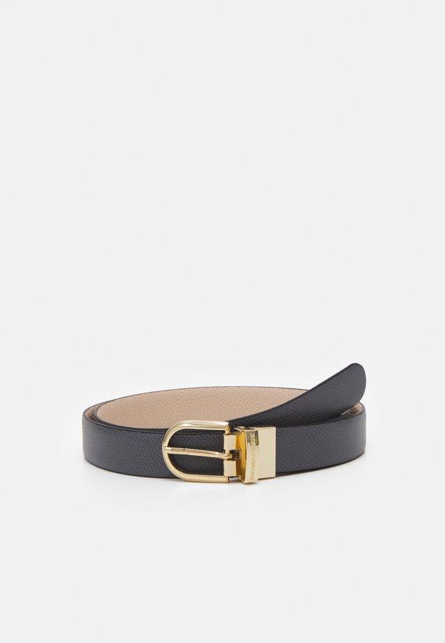 REGULAR SAFF MINI DOLLARO TONGUE BELT - Belt - antracite/nudo