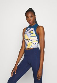 Nike Performance - PRINTED TANK PALM - Top - light thistle/valerian blue/white - 0