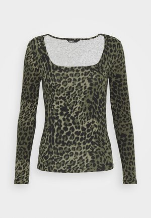 ONLBELLA SQUARE - Long sleeved top - kalamata/green