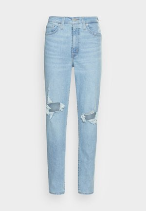 HIGH WAISTED MOM JEAN - Jeans Tapered Fit - light-blue