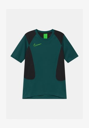 ACADEMY UNISEX - Print T-shirt - dark teal green/black/green strike