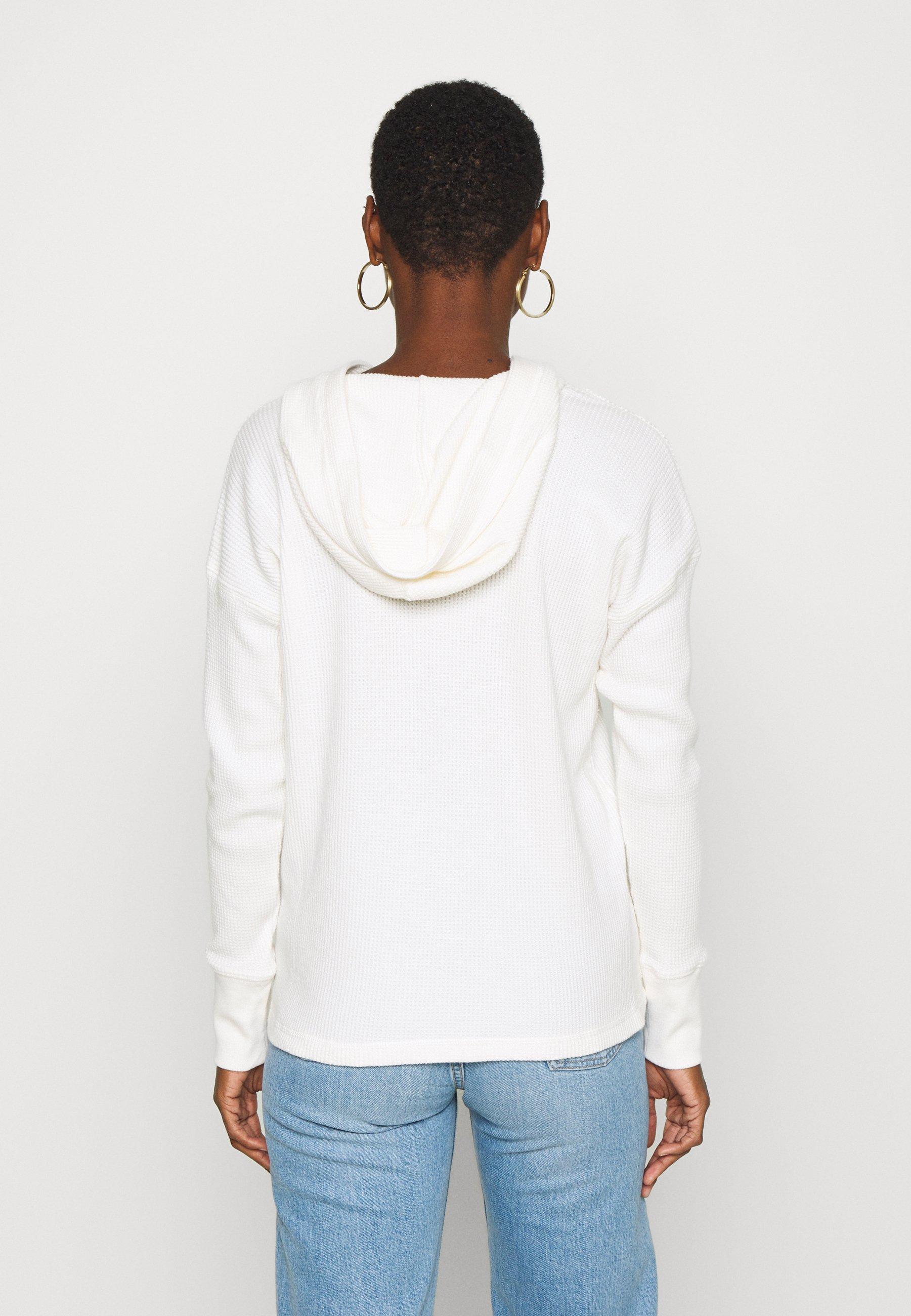 Abercrombie & Fitch LOGO HOOD  - Felpa con cappuccio - white - Abbigliamento da donna Veramente