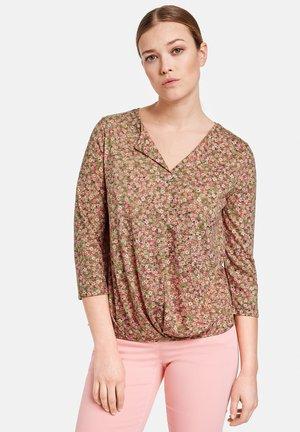 MIT FLOWERPRINT - Long sleeved top - lila/pink/grün druck