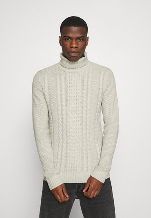 JJKIM ROLL NECK - Strickpullover - cloud dancer