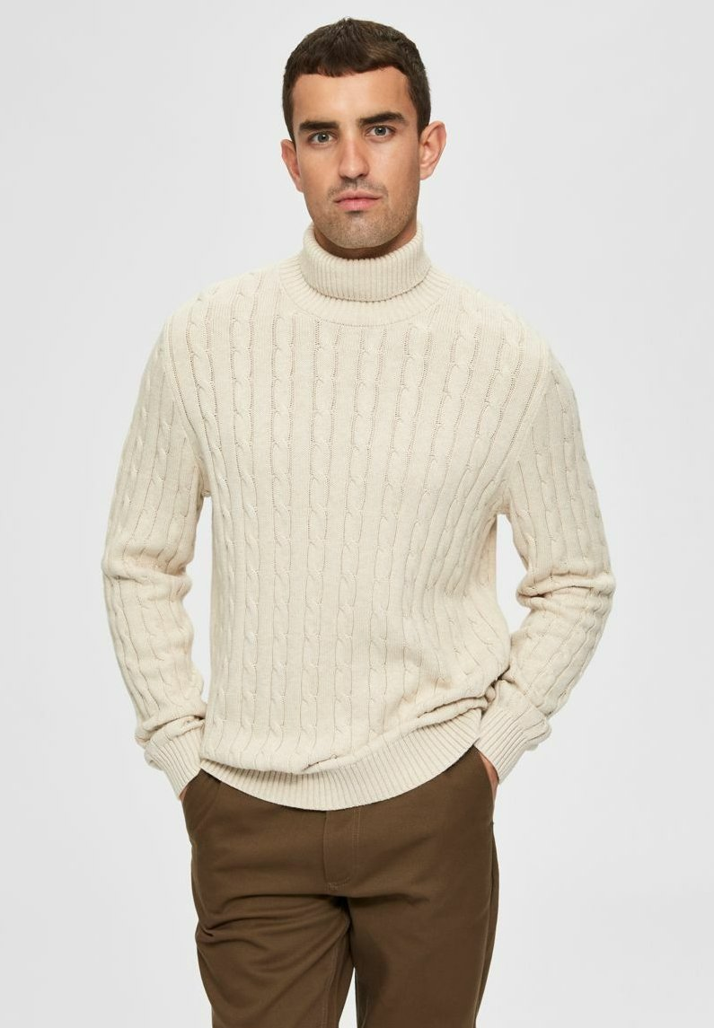 Selected Homme - Pullover - bone white
