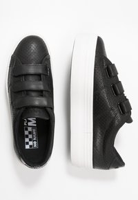 No Name - PLATO STRAPS - Sneakers laag - black/fox white - 3