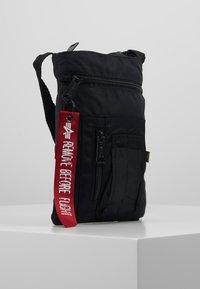 Alpha Industries - CREW MESSENGER BAG - Across body bag - black - 3