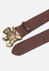 Polo Ralph Lauren - SMOOTH BEAR BELT - Vyö - brown - 1