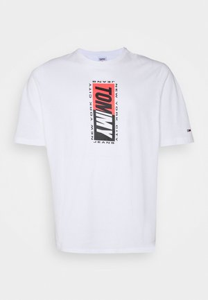 VERTICAL GRAPHIC TEE - Print T-shirt - white