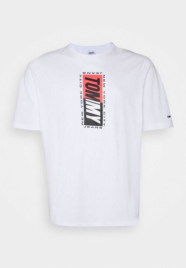 VERTICAL GRAPHIC TEE - T-shirt imprimé - white
