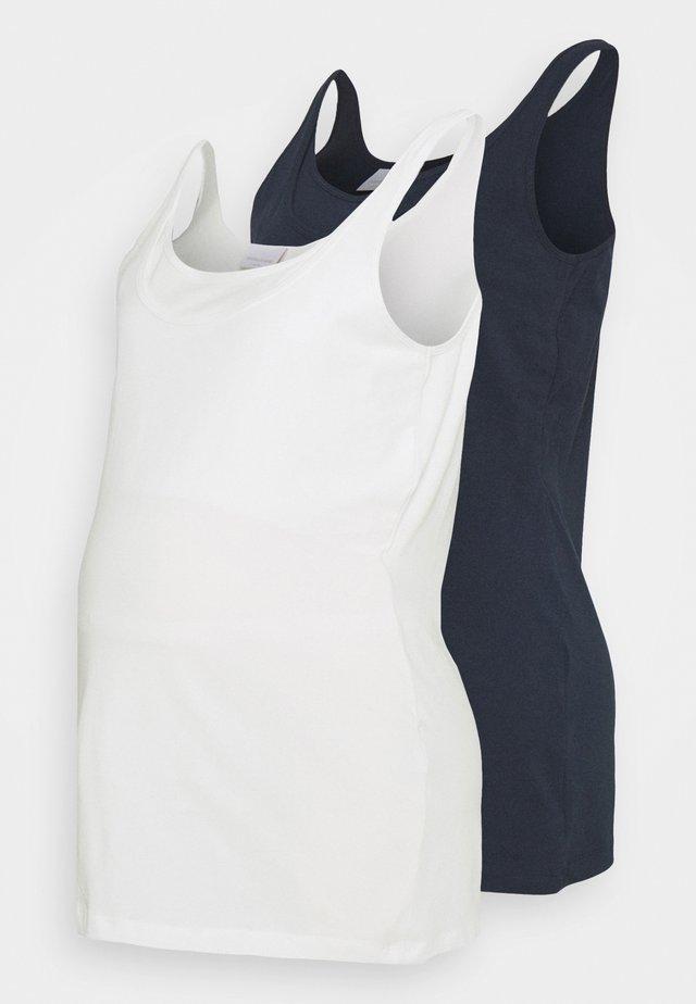 MLSIA NELL TANK 2 PACK - Toppe - navy/snow white