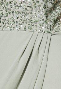 Lace & Beads - AVALON WRAP MAXI - Společenské šaty - sage - 6