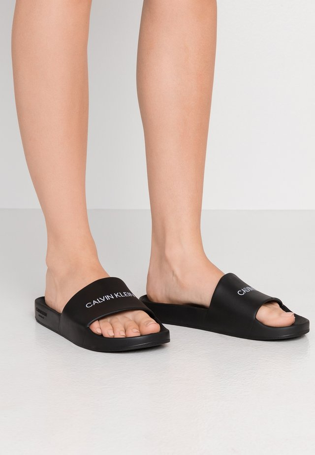 ONE MOLD SLIDE - Badesandaler - black
