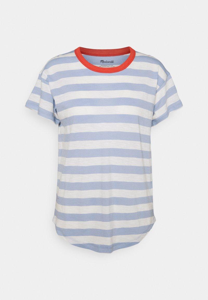 Madewell - WHISPER SORREL CREWNECK TEE - Print T-shirt - blue