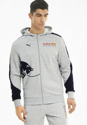 RED BULL RACING  - Zip-up hoodie - light gray heather