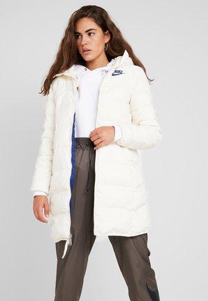 Down coat - pale ivory/blue void