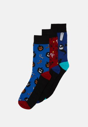 JACHALLOWEEN SOCK GIFTBOX 3 PACK - Chaussettes - chili pepper/victoria blue