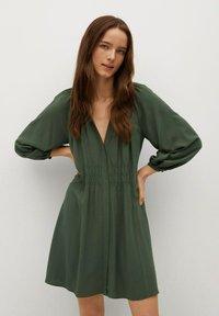 Mango - ROBE - Korte jurk - vert foncé - 0
