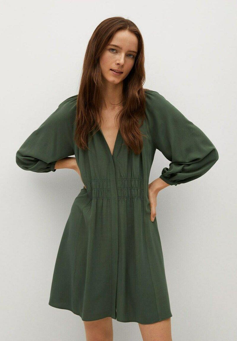 Mango - ROBE - Korte jurk - vert foncé