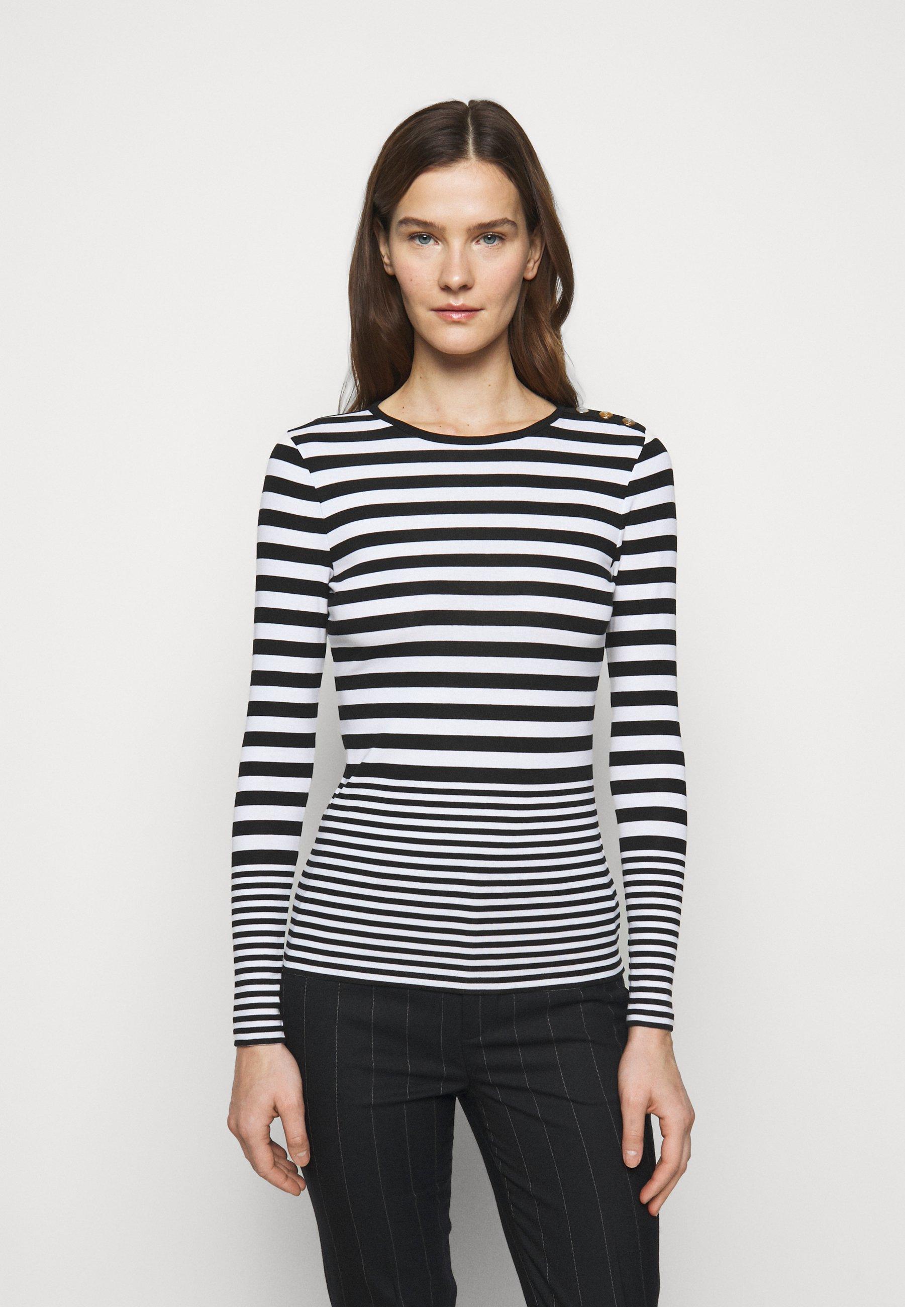 Women Long sleeved top - white/polo