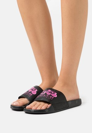 REXY HORSE AND CARRIAGE SLIDE - Sandaler - black/pink/multicolor
