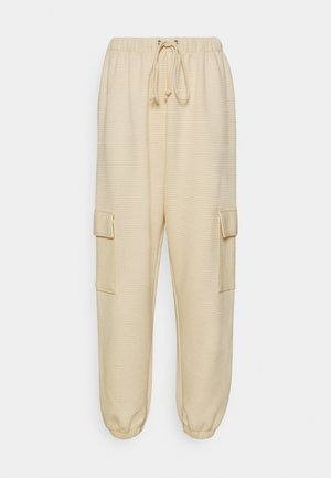 JOGGER UTILITY POCKET - Pantalones deportivos - stone