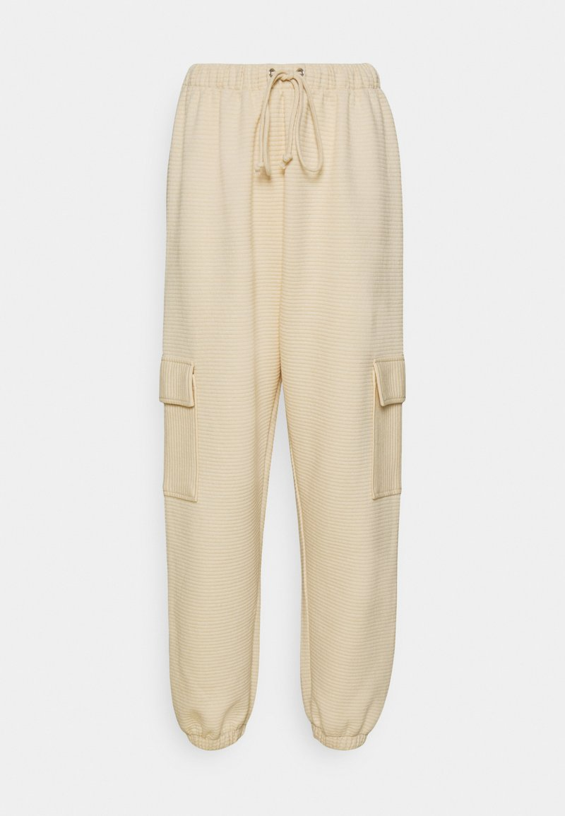 Missguided - JOGGER UTILITY POCKET - Tracksuit bottoms - stone
