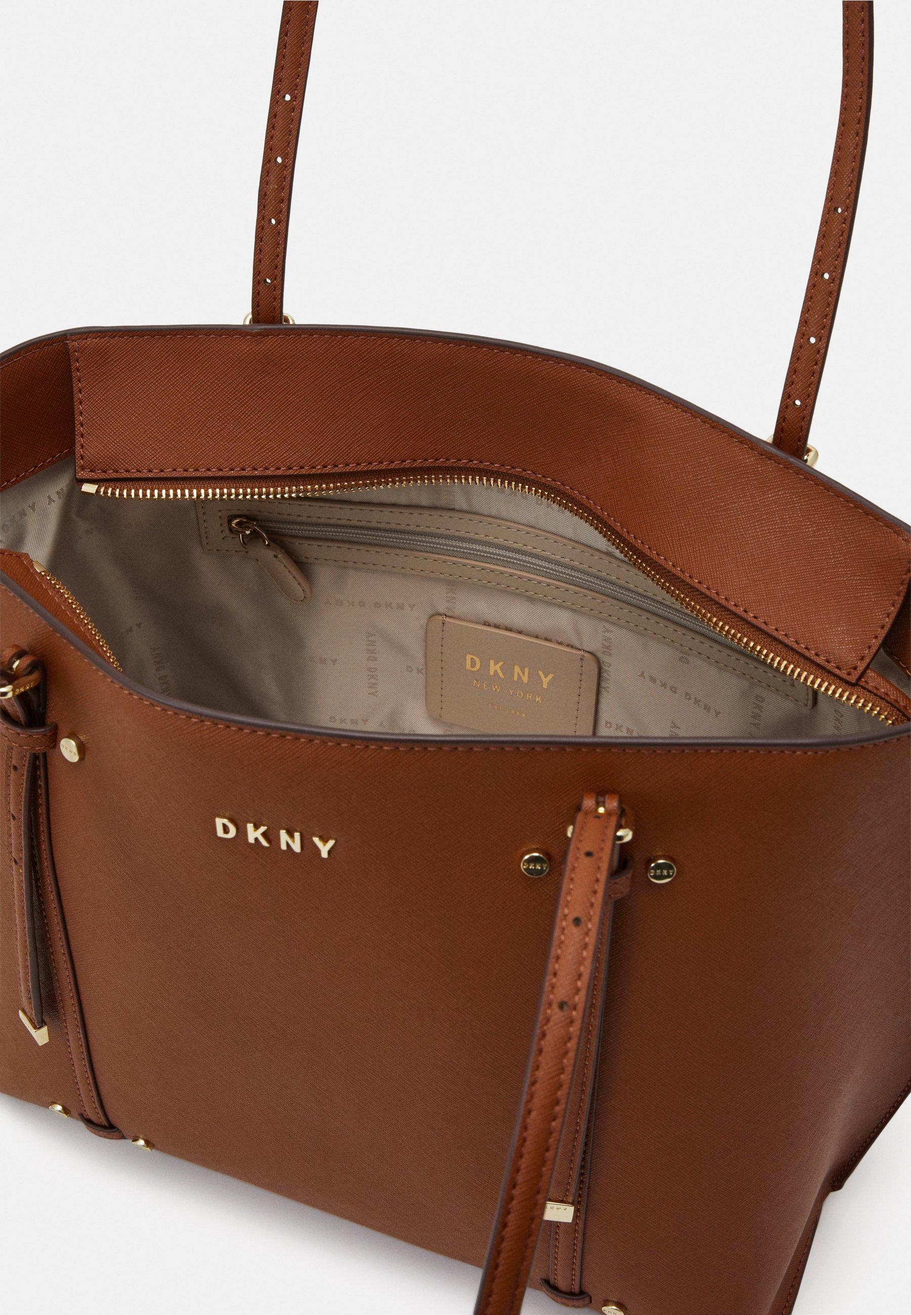 DKNY ALICE FLAP SHOULDER - Shoppingveske - caramel/brunlig 3ppcUPL3zI4yWiV