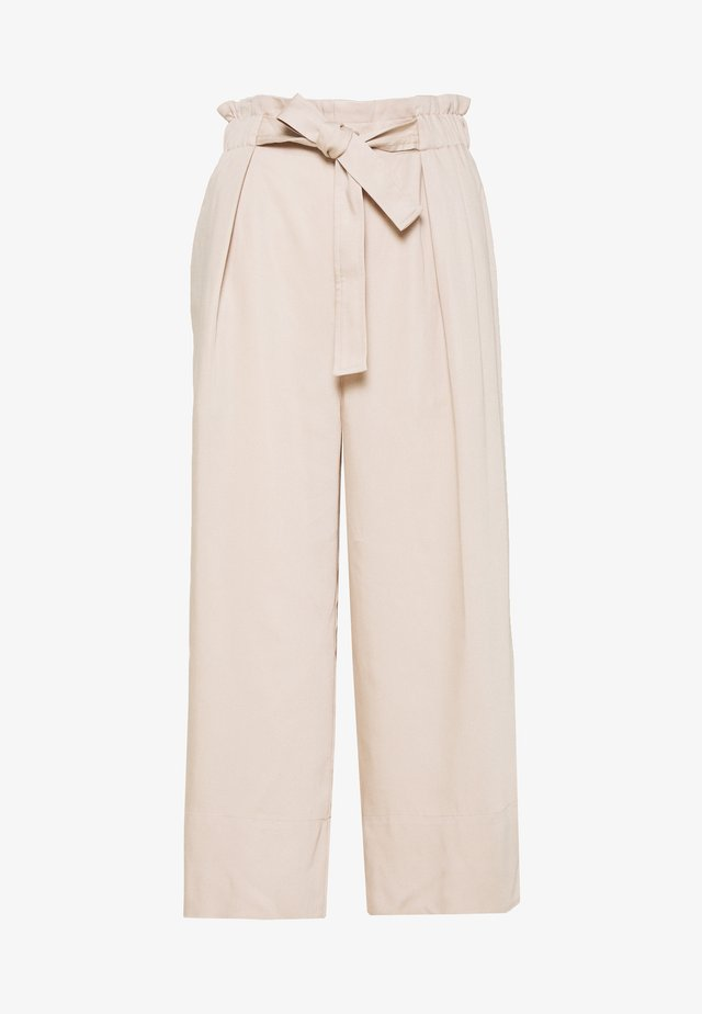 QUIIW CULOTTE PANT - Pantaloni - powder beige