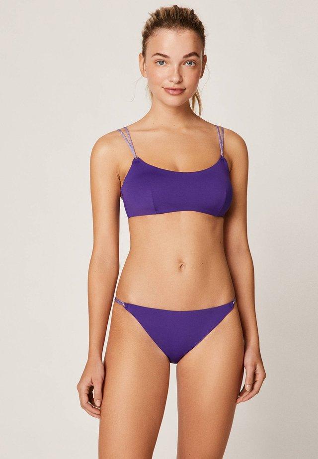 MIT BANDDETAILS - Bikini bottoms - dark purple