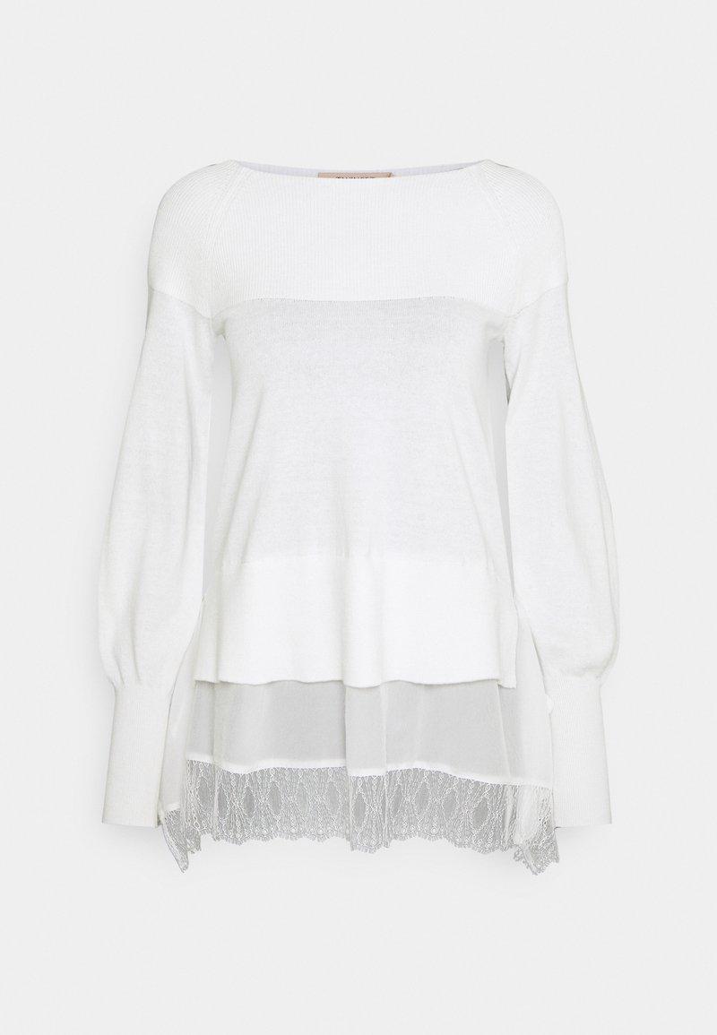 TWINSET - SCOLLO BARCHETTA  - Jumper - white