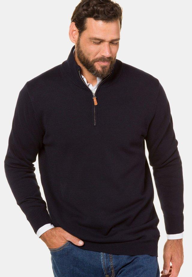 TROYER - Stickad tröja - navy