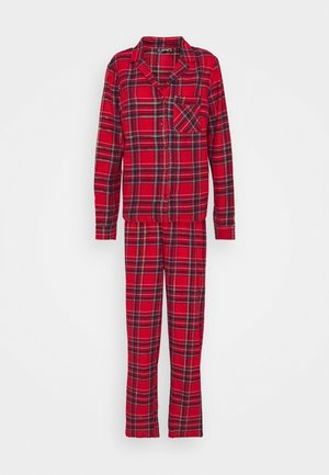TRADITIONAL CHECK SET - Pigiama - red