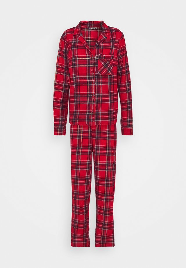TRADITIONAL CHECK SET - Piżama - red