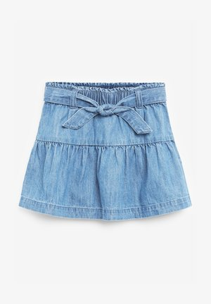 A-line skirt - blue denim