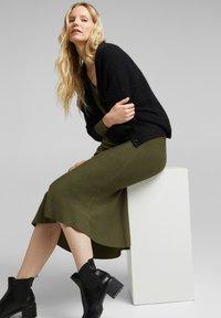 Esprit Collection - A-line skirt - khaki green - 3