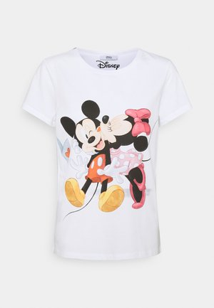 ONLMICKEY KISS - T-shirts med print - white