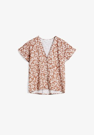 AANVI STRAW FLOWER - Blouse - oatmilk