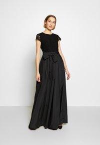 Lauren Ralph Lauren - TAFFETA LONG GOWN COMBO - Společenské šaty - black - 1
