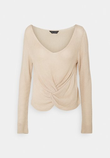 TWIST FRONT JUMPER - Pullover - oatmeal